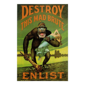 WWI Enlistment Ad Print