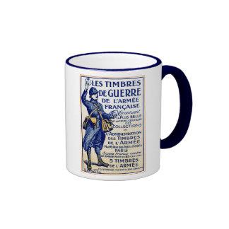 WWI French War Stamps Coffee Mug