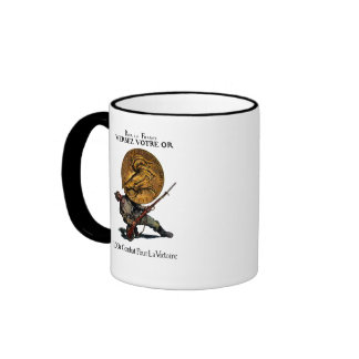 WWI Gold for French Victory Coffee Mug