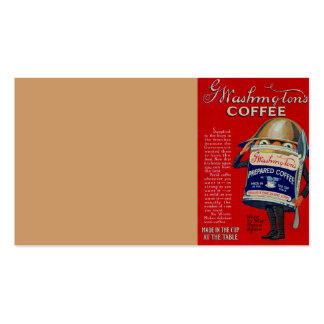 WWI Instant Coffee Ad Business Card Templates
