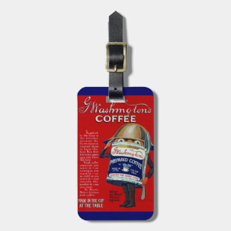 WWI Instant Coffee Ad Luggage Tag