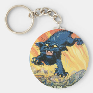 WWI: Join the Tanks Line Basic Round Button Key Ring