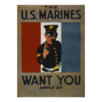 WWi Marine Poster