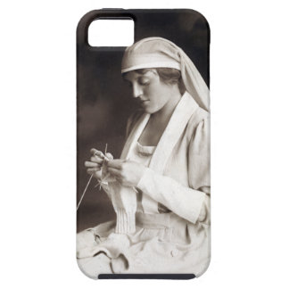 WWI Nurse knitting Sweater iPhone 5 Cases