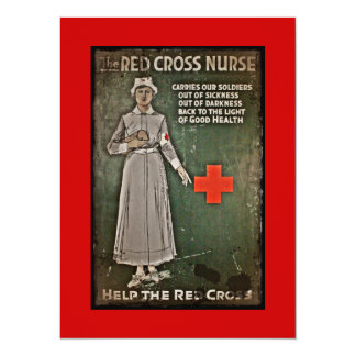WWI Nurse Raising Funds 14 Cm X 19 Cm Invitation Card