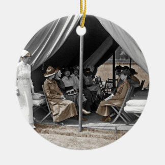 WWI Nurse Trainees Round Ceramic Decoration