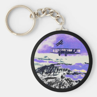 WWI Planes Practicing Attacks Key Ring
