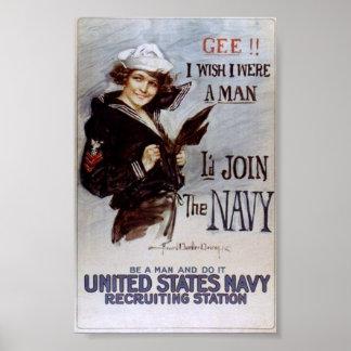WWI  propaganda poster / War Effort
