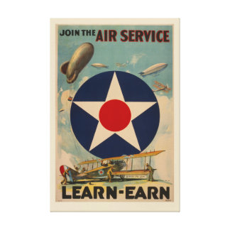 WWI Recruiting Poster: Join the Air Service Canvas Print