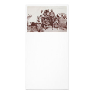 WWI Soldiers in Gas Masks Photo Card