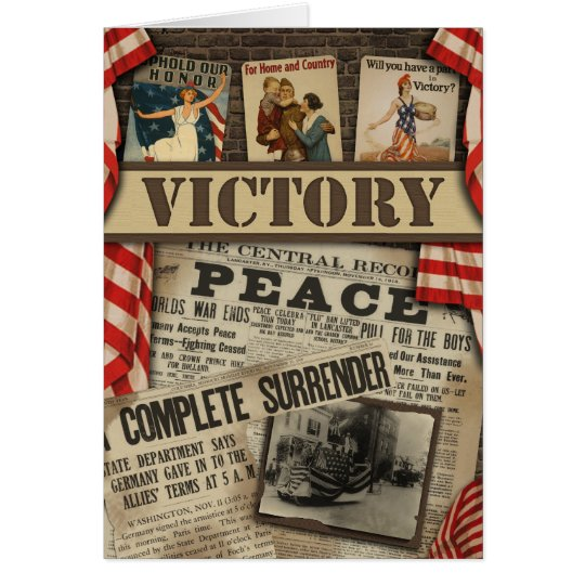 """WWI """"Victory"""" Scrapbook Greeting Card"""