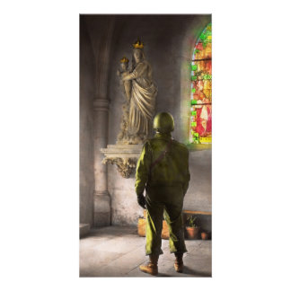WWII - A prayer for Courage 1940 Custom Photo Card