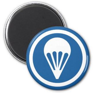 WWII Airborne CAP Patch 6 Cm Round Magnet