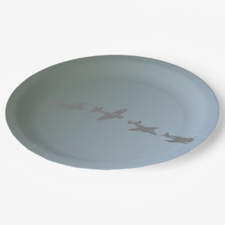 WWII Aircraft Paper Plate