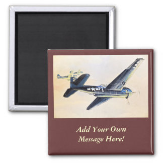 WWII Aircraft Square Magnet