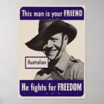 WWII Australian Poster