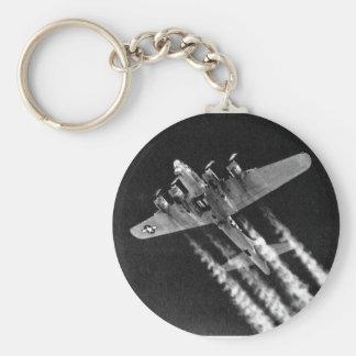 WWII B-17 in Flight Key Ring