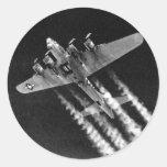 WWII B-17 in Flight Sticker