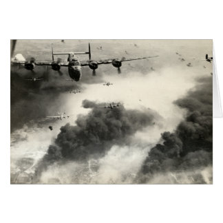 WWII B-24s over Ploesti Oil Fields Greeting Cards