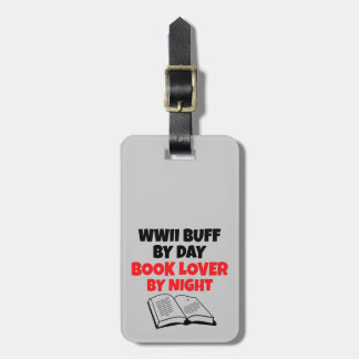 WWII Buff Book Lover Luggage Tag