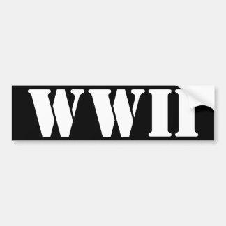 WWII BUMPER STICKER
