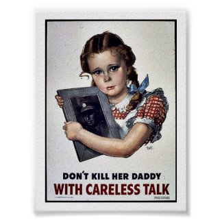 Wwii Careless11 Poster