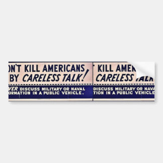 Wwii Careless12 Bumper Stickers