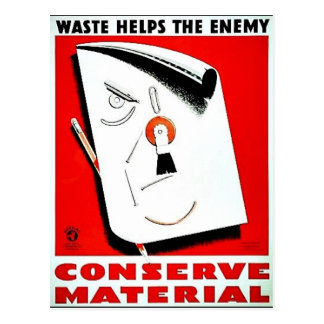 Wwii Conserve Postcard