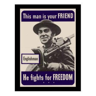 WWII Englishman Postcard