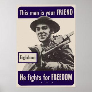 WWII Englishman Poster