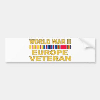 WWII Europe Veteran Bumper Sticker