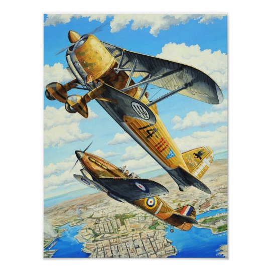 WWII FIAT CR.42 POSTER