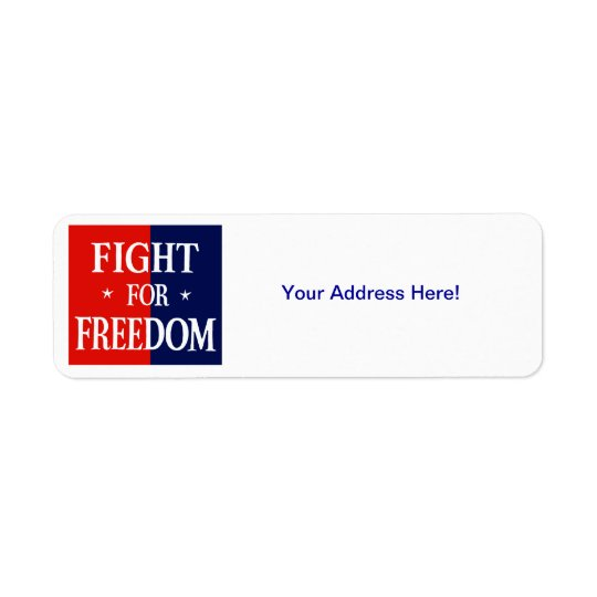 WWII Fight For Freedom Return Address Label