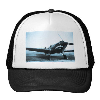 WWII Flying Tigers Curtiss P-40 Fighter Plane Cap