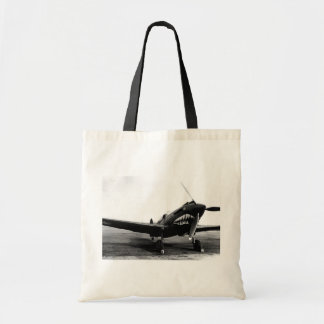 WWII Flying Tigers Curtiss P-40 Fighter Plane Tote Bag