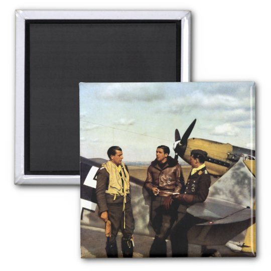 WWII German ME-109 Pilots Square Magnet