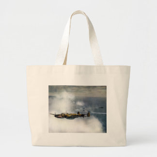 WWII German ME-110 over the North Sea Canvas Bags