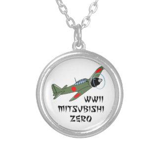 WWII Japanese Warbird Round Pendant Necklace