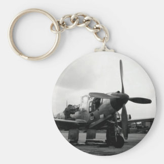 WWII Kingcobra Fighter Aircraft Key Chain