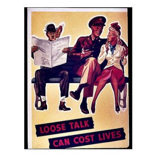 Wwii Loose Talk4 Postcard