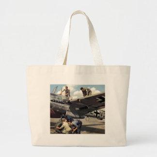WWII Luftwaffe Ground Crew + ME-110 Canvas Bag