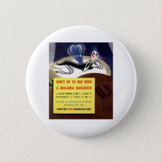 WWII Malaria Mosquito 6 Cm Round Badge
