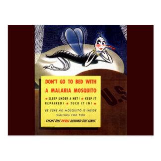 WWII Malaria Mosquito Postcard