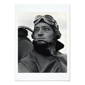 WWII Marine Corp Ace Major John Smith 13 Cm X 18 Cm Invitation Card