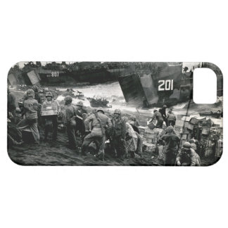 WWII Marines offload Supplies on Iwo Jima iPhone 5 Cases