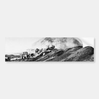 WWII Marines on Iwo Jima Beachhead Bumper Stickers