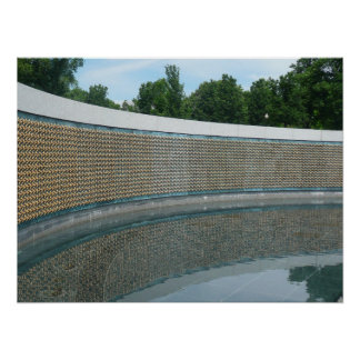 WWII Memorial Freedom Wall in Washington DC Poster