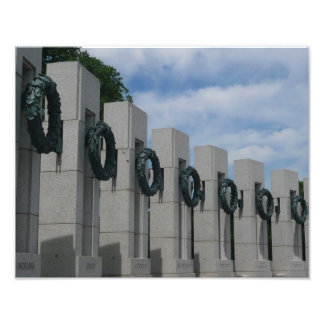 WWII Memorial Wreaths I in Washington DC Photographic Print