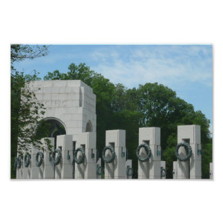 WWII Memorial Wreaths II in Washington DC Photographic Print