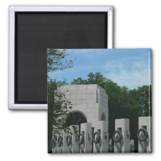 WWII Memorial Wreaths II in Washington DC Square Magnet